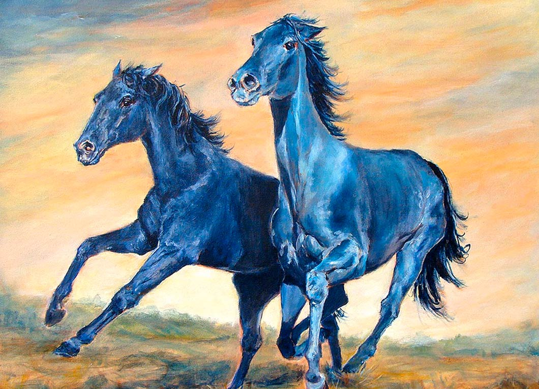 2-Blue-Horses