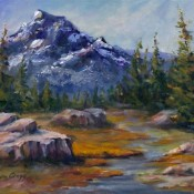 Mountain Meadow, (ID#412) 12 x 16 Oil on canvas
