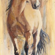 A Good Buckskin, (ID# 124) 24 x 48 Acrylic on gallery canvas. (Giclee available)