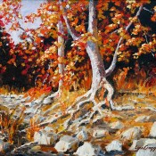 Dry Creek, (ID#405) 14 x 18 Acrylic on canvas. SOLD