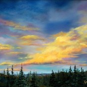 Big Sky, (ID#406) 14 x 18 Oil on canvas. SOLD