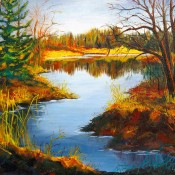 North Land, (ID#403) 16 x 20 Oil on canvas. SOLD