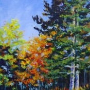 Autumn, (ID#409) 12 x 16 Acrylic on canvas