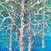 Snow Flurries, (ID#416) 12 x 24 Acrylic on gallery canvas
