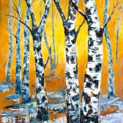 Spring Thaw, (ID#415) 24 x 36 Acrylic on canvas SOLD