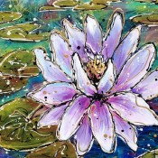 Waterlily (ID#323) 18 x 24 Acrylic on canvas