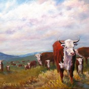 Home on the Range, (ID#207) 18 x 24 oil on gallery, Available as Giclee