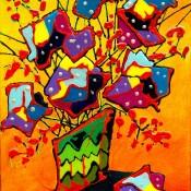 Askew, (ID#314) 12 x 16 Acrylic on canvas board - Framed