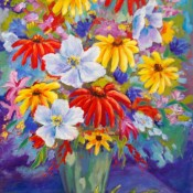 Bouquet, (ID#302) 18 x 24 Oil on canvas. SOLD