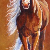 Copper Beauty, (ID#122) 15 x 30 Acrylic on gallery canvas