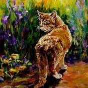 Hunter, (ID#208) 16 x 20 acrylic on canvas board