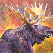 Monarch of the North (ID# 219) 24 x 36 Oil over Acrylic on canvas