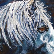 "Mustang, (ID#113) 24"" x 30"" Acrylic on canvas. SOLD"